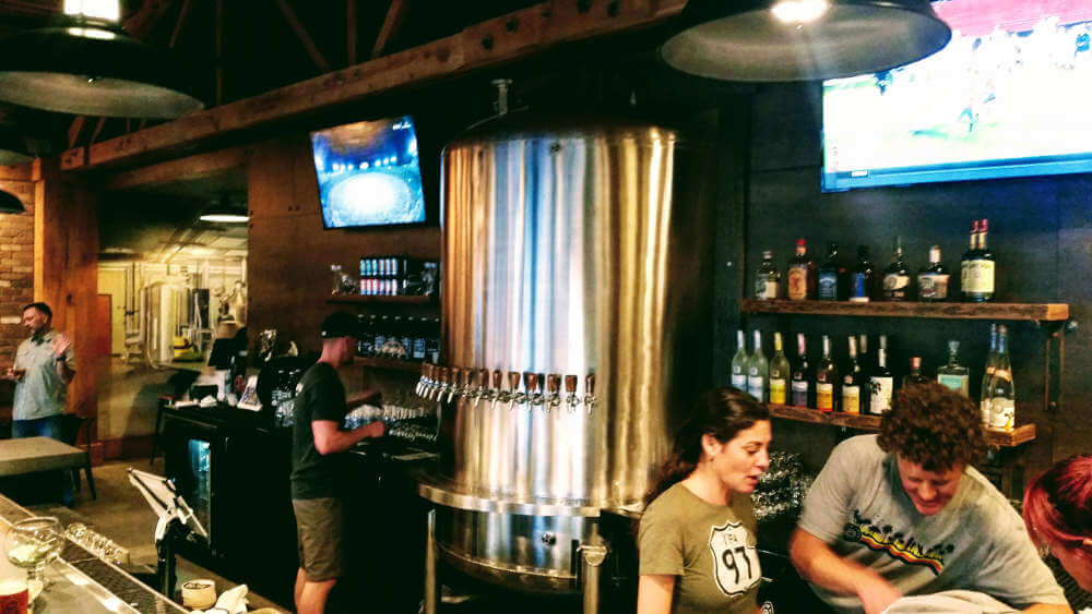 Silver Moon Brewing remodel: bar