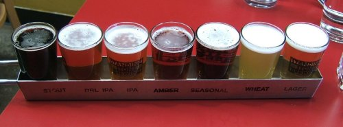Standing Stone brewery sampler