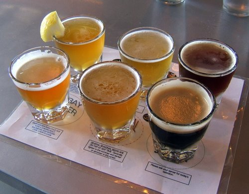Steelhead Brewing sampler tray