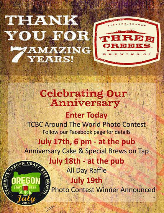 Three Creeks Brewing 7 year anniversary