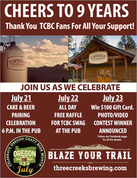 Three Creeks Brewing 9th anniversary