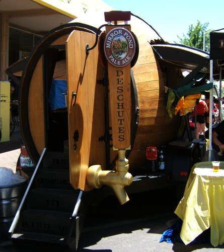 Woody - Deschutes' traveling beer barrel