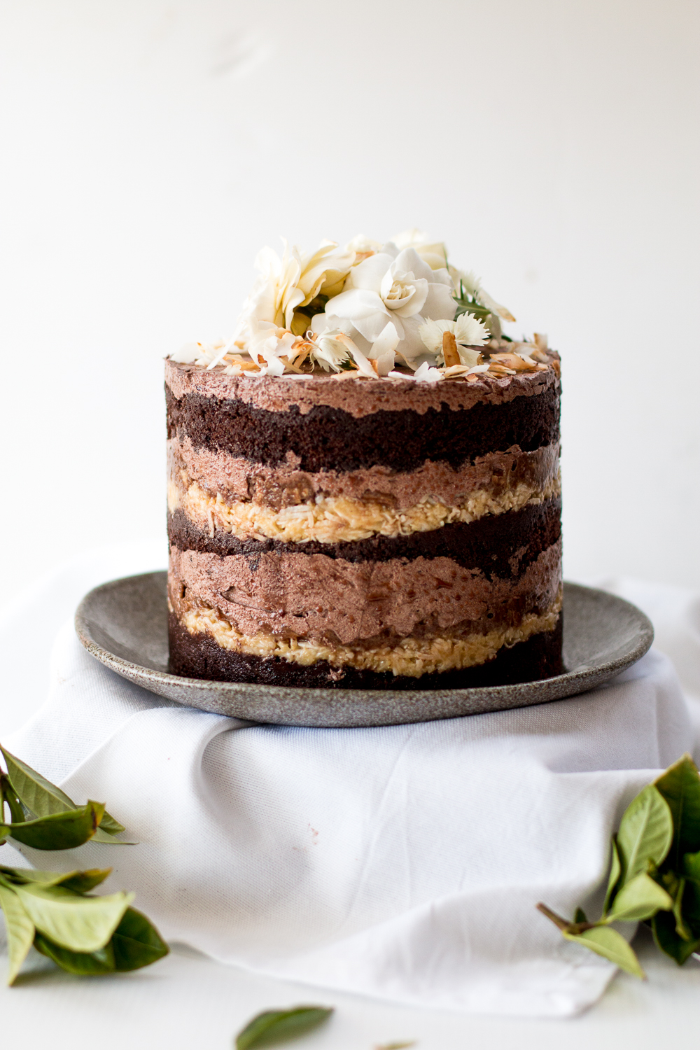 Awesome Momofuku German Chocolate Espresso Cake A Blog Birthday The Funny Birthday Cards Online Alyptdamsfinfo