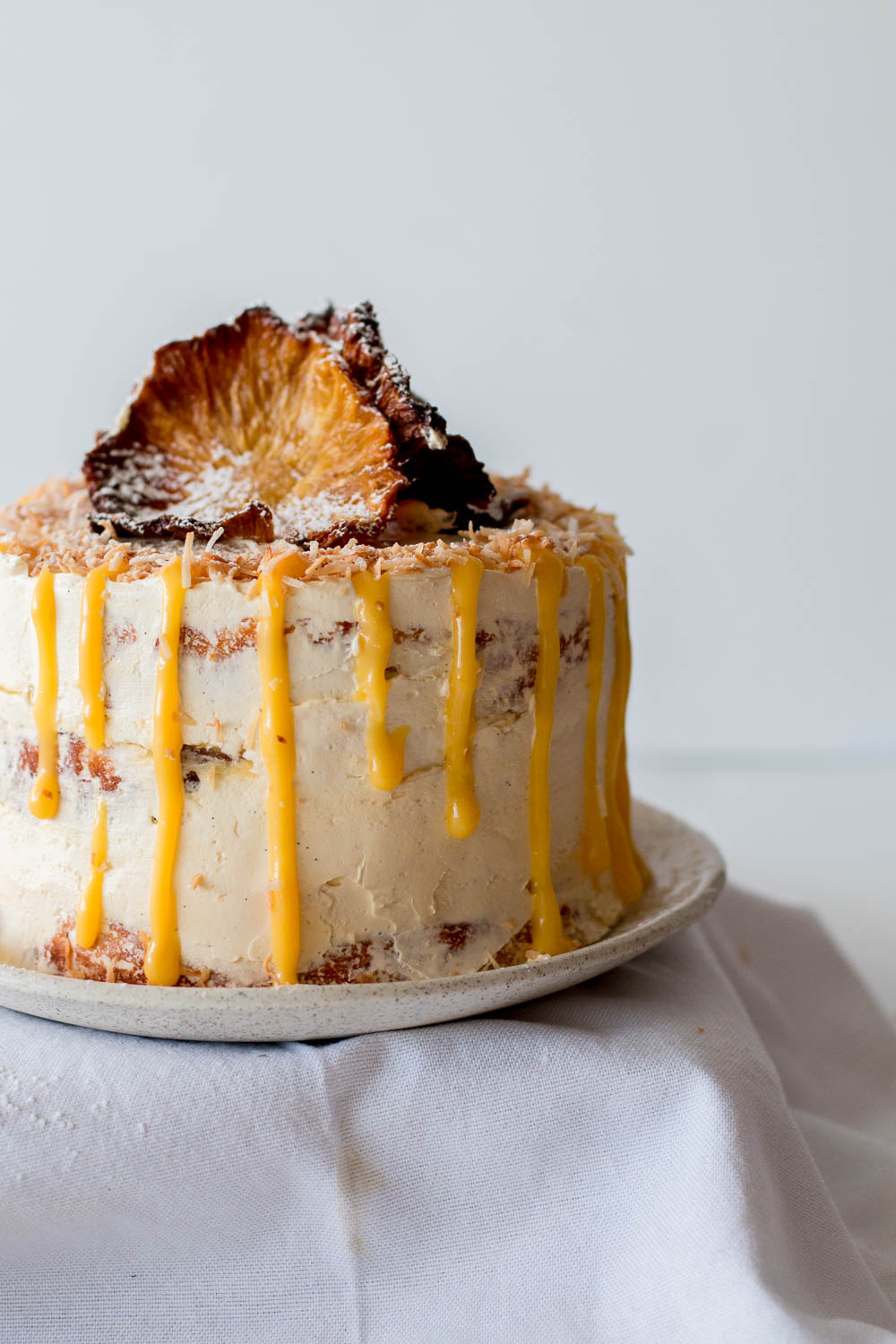 Free Pineapple Coconut Cake with Passionfruit Curd | The Brick Kitchen ...