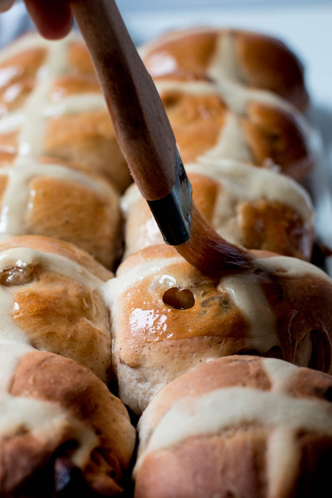 Pear & Chocolate Hot Cross Buns - The Brick Kitchen