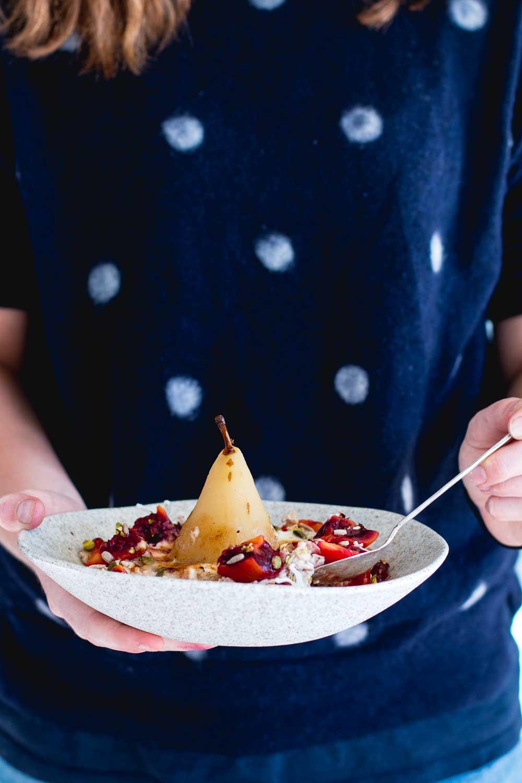 Brûlée Bircher Muesli with Ginger Poached Pear | The Brick ...