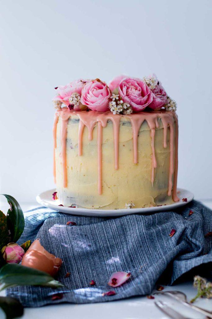 Excellent Lemon Almond Raspberry Layer Cake The Brick Kitchen Funny Birthday Cards Online Drosicarndamsfinfo