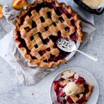 Peach & Blackberry Pie with Olive Oil Gelato