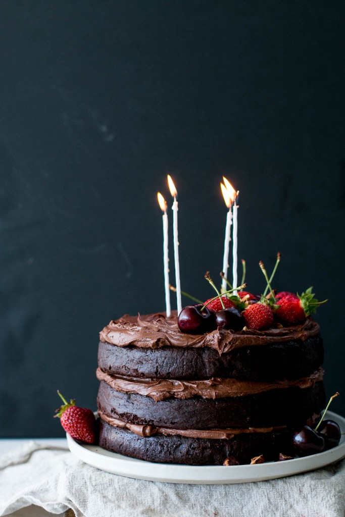 Flourless Chocolate Hazelnut Layer Cake - The Brick Kitchen