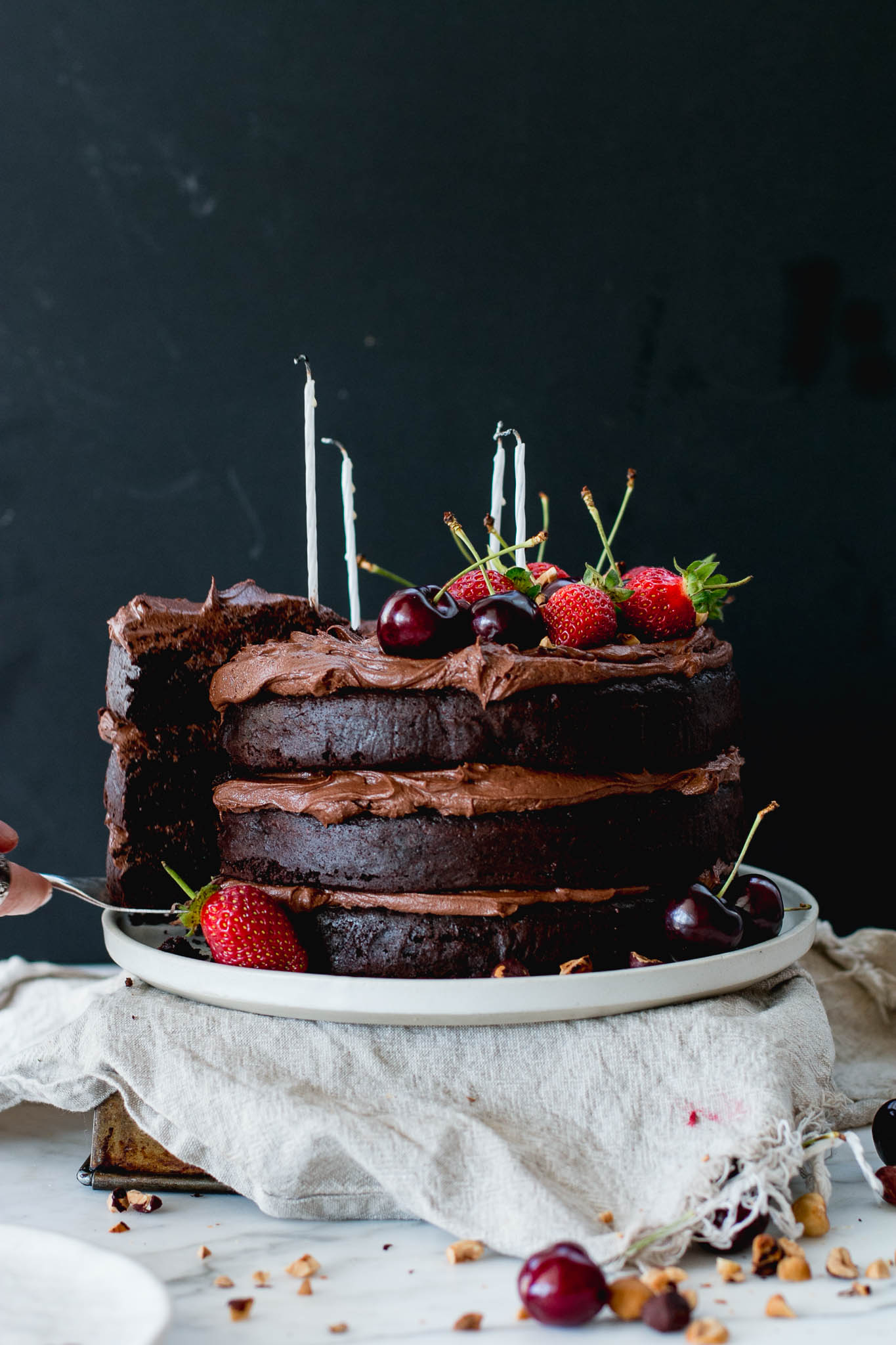 Flourless Chocolate Hazelnut Layer Cake The Brick Kitchen