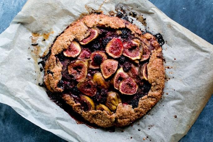 Fig, Blackberry & Hazelnut Rye Galette - The Brick Kitchen