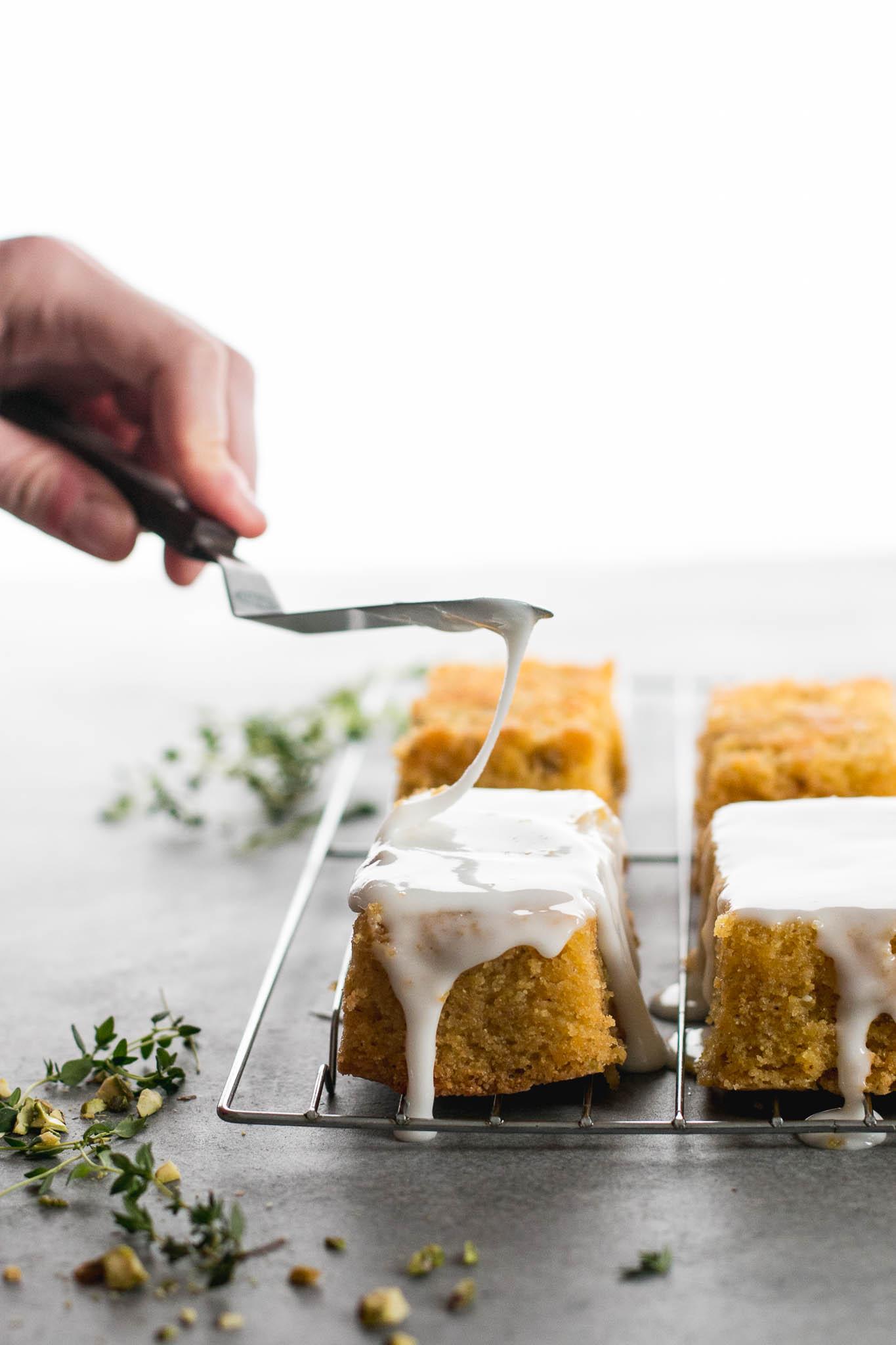 Lemon Polenta & Pistachio Cakes - The Brick Kitchen