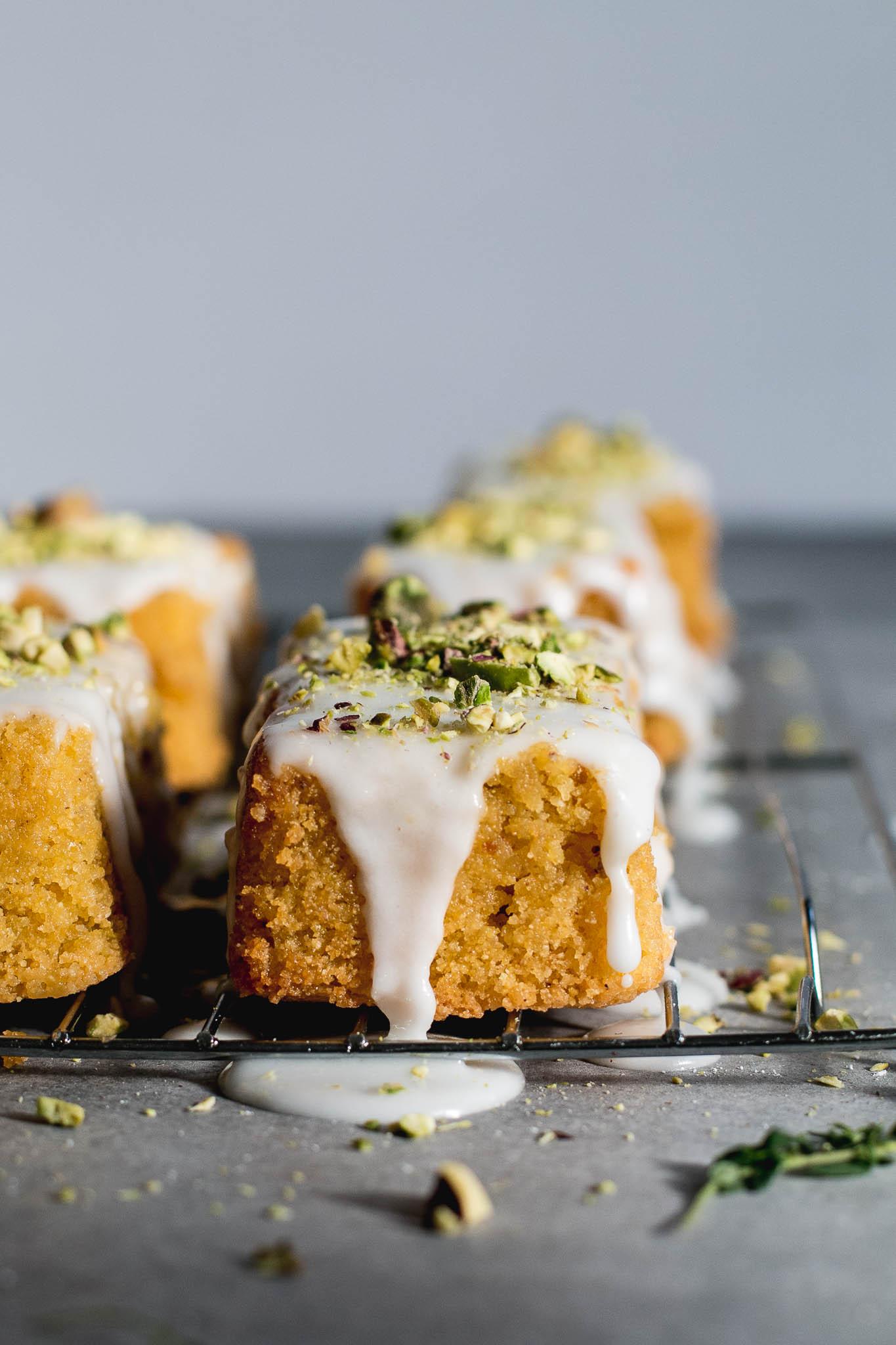 Lemon Polenta & Pistachio Cakes - The Brick Kitchen-15