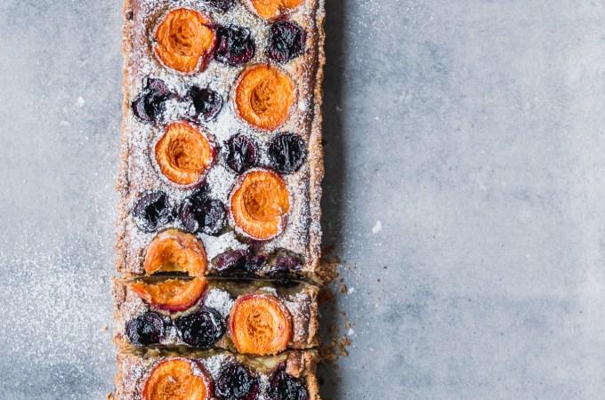 Apricot & Tahini Pistachio Frangipane Tart - The Brick Kitchen