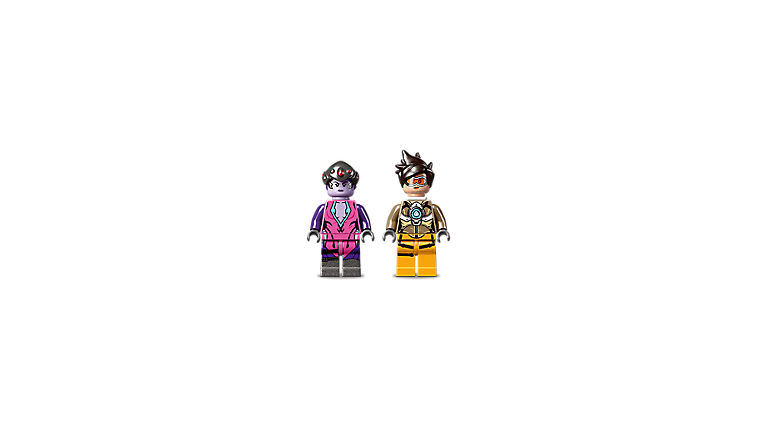 LEGO Overwatch Tracer and Widowmaker Minifigs