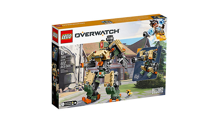The Lego Overwatch Bastion Box official Image
