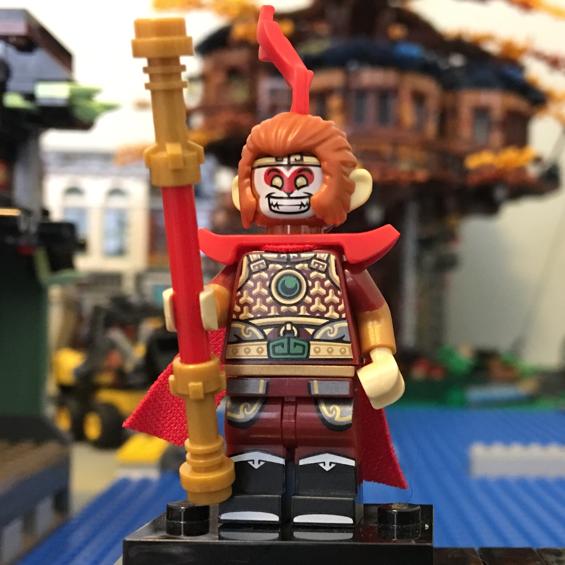 NEW 1x LEGO MINIFIGURE SERIES 19 HAIR PIECE FOR THE MONKEY KING C020