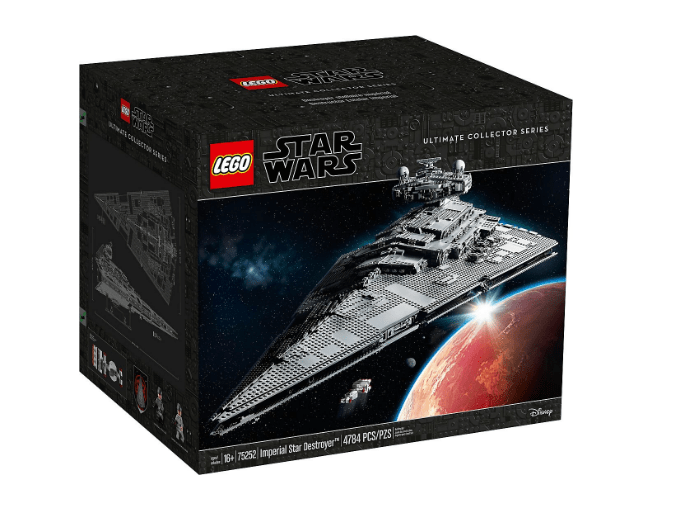 Front of Box photo of the LEGO 75252 Star Wars UCS Imperial Star Destroyer: the Devastator