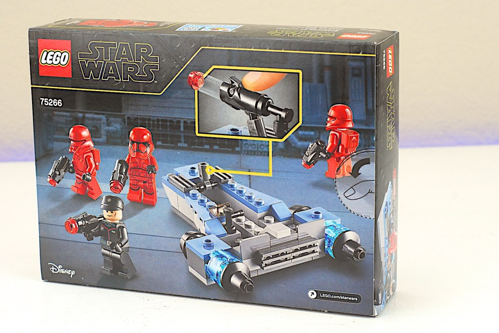 LEGO 75266 Sith Troopers Battle Pack Box Back