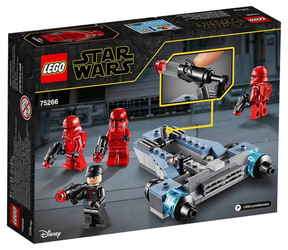 LEGO Star Wars 75266 Sith Trooper Battle Pack Box Back