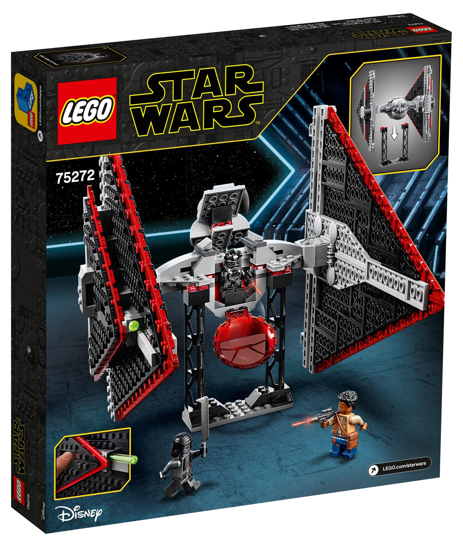 LEGO 75272 Star Wars Sith TIE Fighter Box Back