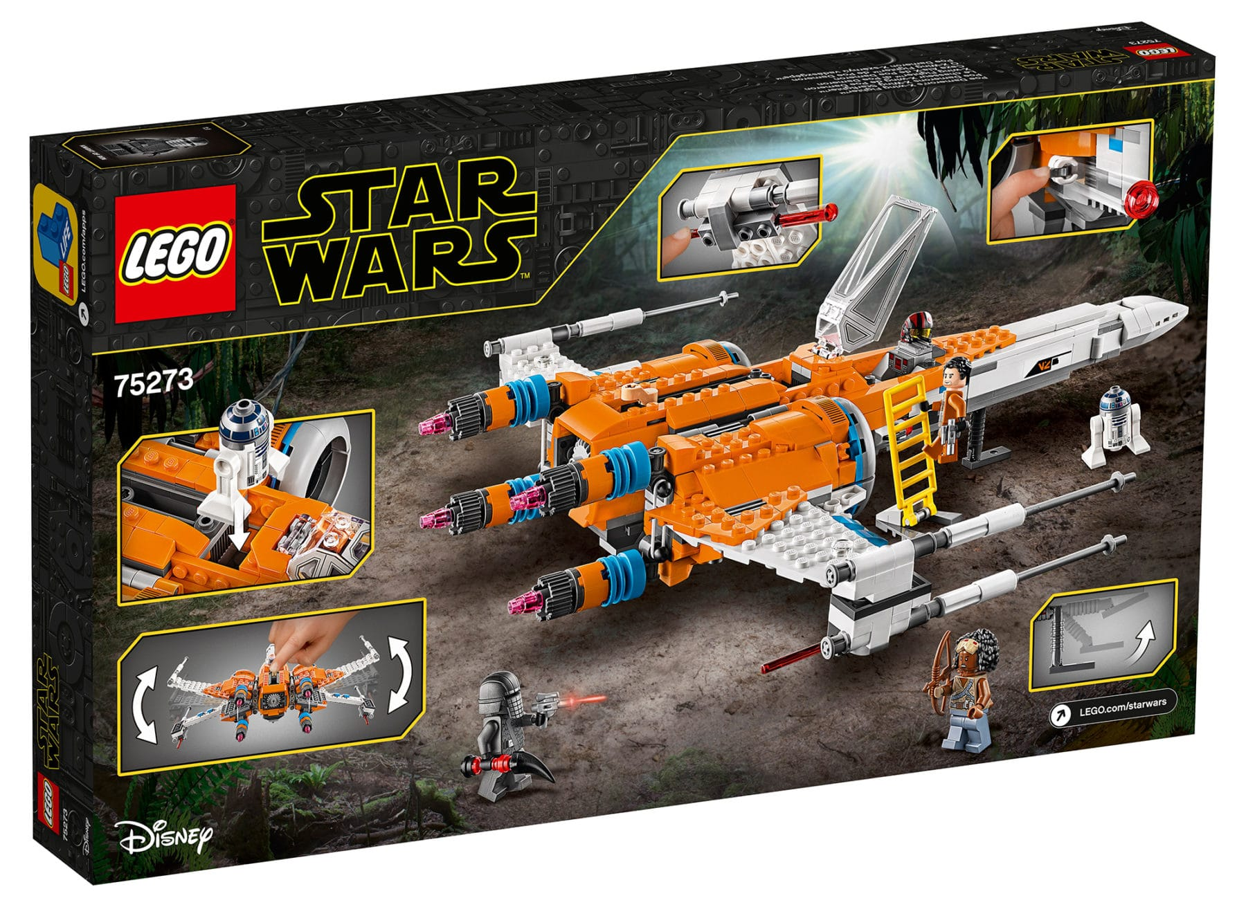 LEGO 75273 Star Wars PoesX-Wing Fighter Box Back