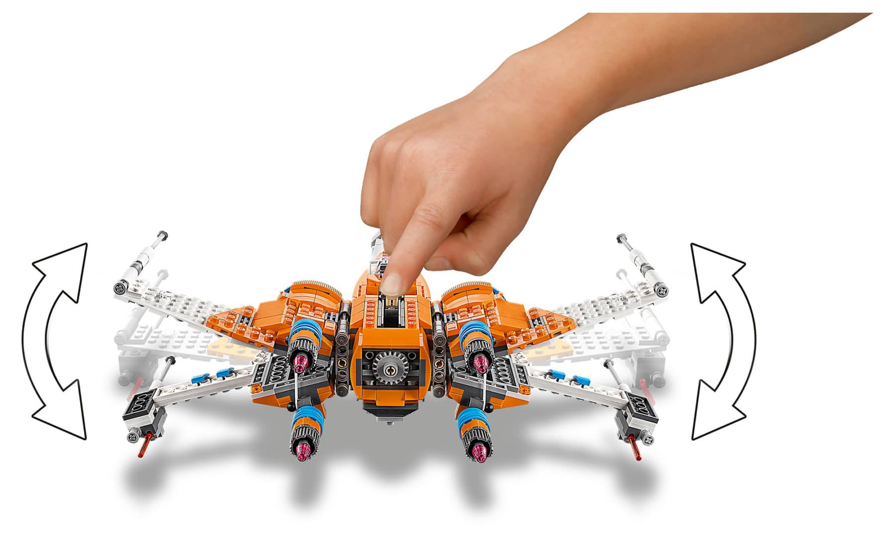 LEGO 75273 Star Wars PoesX-Wing Fighter details
