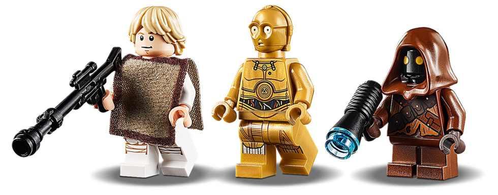 LEGO Star Wars 75271 Lukes Llandspeeder Minifigures