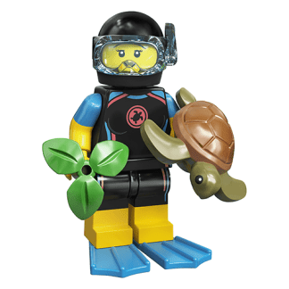 Lego 71027 Femaile Diver with Turtle Series 20 Minifigure