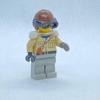 LEGO Baron Von Barron Minifigure with Brown Aviator Cap