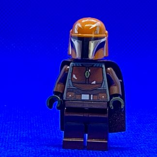 LEGO Star Wars Minifigure Mandalorian Tribe Warrior - Male, Dark Brown Cape, Dark Orange Helmet