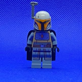 Lego Star Wars Mandalorian Tribe Warrior - Female, Black Cape, Light Bluish Gray Helmet with Antenna / Rangefinder