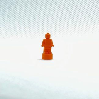LEGO Monochrome Trophy Nanofigure Orange