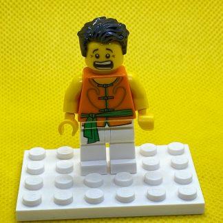 LEGO Minifigure Dragon Boat Race Team Green:Orange Member 3