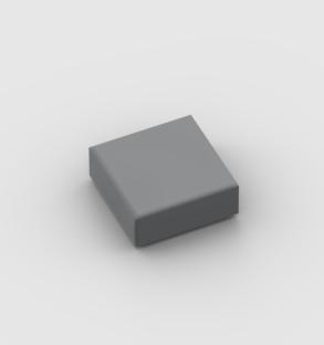 LEGO Part Dark Bluish Grey Tile 1 x 1 with Groove