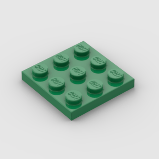 LEGO Part Green Plate, Square 3 x 3