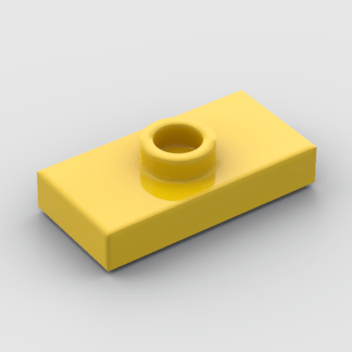 LEGO Part Yellow Plate, Modified 1 x 2 with 1 Stud with Groove (Jumper)