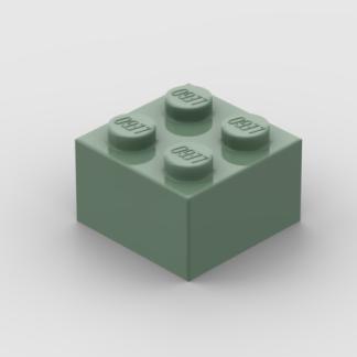 LEGO Part Sand Green Brick Brick 2 x 2