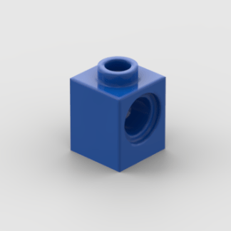 LEGO Part Blue Technic, Brick 1 x 1 with Hole