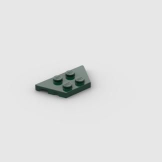 LEGO Part Dark Green Wedge, Plate 2 x 4