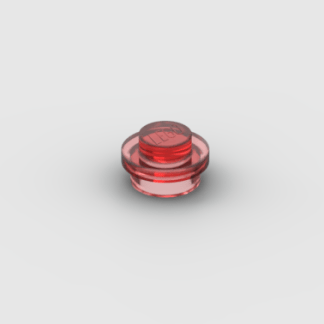 LEGO Part Trans Red Plate, Round 1 x 1