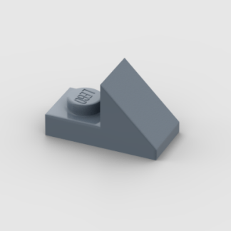 LEGO Part Sand Blue Slope 45 2 x 1 with 2/3 Cutout