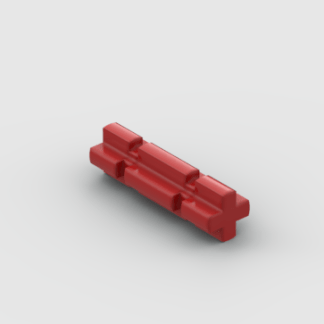LEGO Part Red Technic, Axle 2 Notched