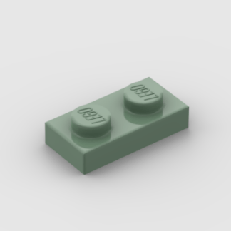 LEGO Part Sand Green Plate 1x2