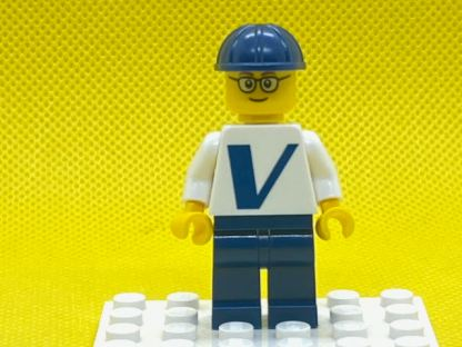 LEGO Male with Vestas Logo on Torso Minifigure - Glasses