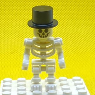 LEGO Minifigure Skeleton with Standard Skull, Black Top Hat
