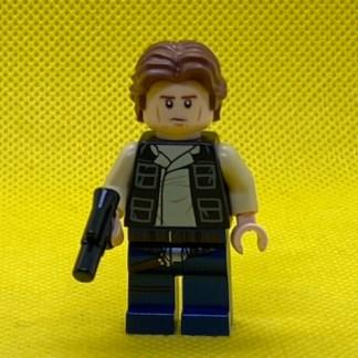 LEGO Star Wars Han Solo, Dark Blue Legs, Vest with Pockets, Wavy Hair