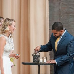 Wishing stone ritual. Photo by Leni Luxe Photography