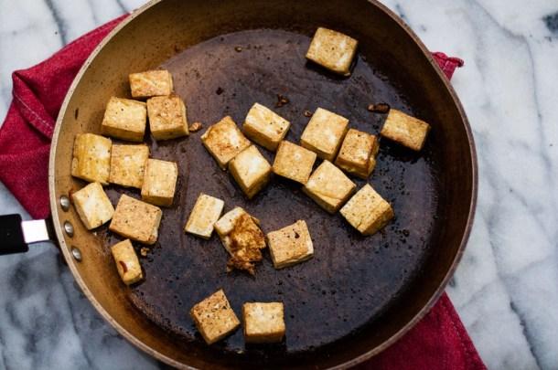 Kale Tofu & Pomegranate Stir Fry