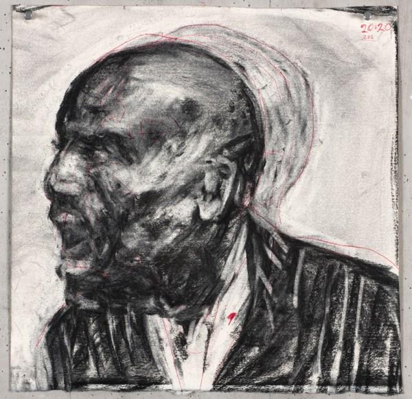 Drawing ' Faces' - William Kentridge Broad